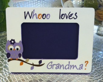 Whoo loves Grandma Picture Frame