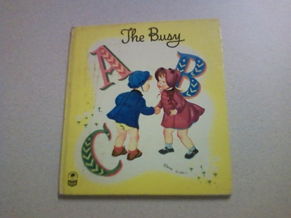 Vintage Childrens book THE BUSY ABC  (1950)