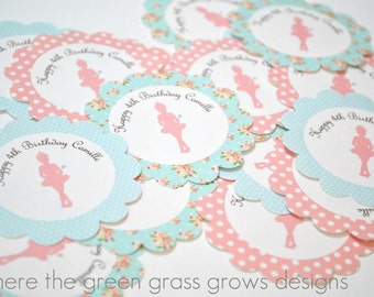 Shabby Chic Ballet Stickers