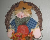 Fall Scarecrow Grapvine Wreath - Fall Decoration