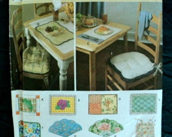 Pattern for Place Mats and Chair Pads Pattern - Simplicity Home No. 8696