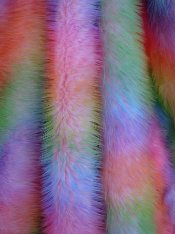 Camo Rainbow Faux Fur By Everafterfabrics On Etsy