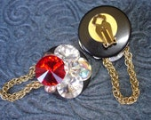 Vintage Glam Earrings 1980's Retro Sparkle for New Years Funky Geek