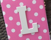 Wall Letters, Pink and White Nursery, Green and Pink Nursery, 8x10, Framed Monogram, Baby Nursery, Painted Letters,Letters, Personalized