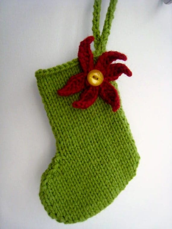 Pattern Only Hand Knitted Christmas Stocking Decoration