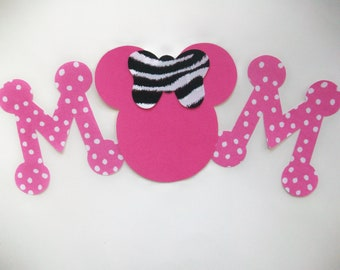 MOM -  DIY No-Sew - Minnie/Mickey Mouse Applique - Iron On