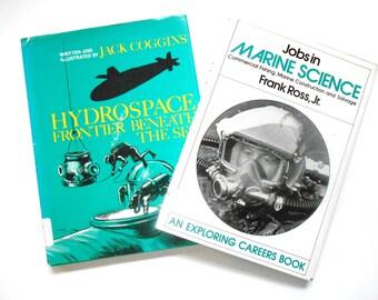 Two Vintage Children's Marine Science Books