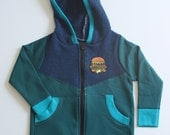 CONNOR - Fleece Zip-Up Hoodie - Size 2T