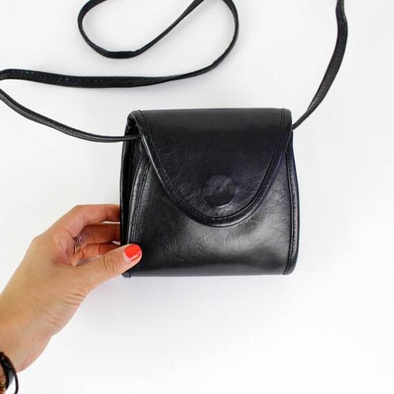 tiny black cross body pouch purse