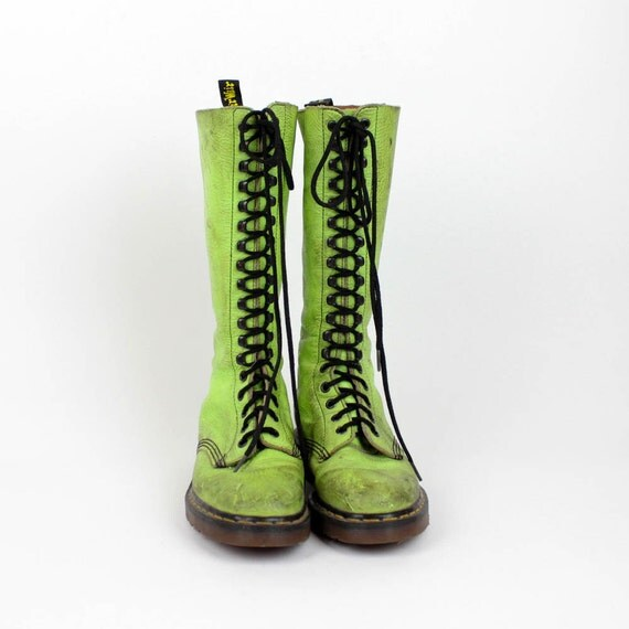 green doc martens 7.5 / mens 5 / made in England