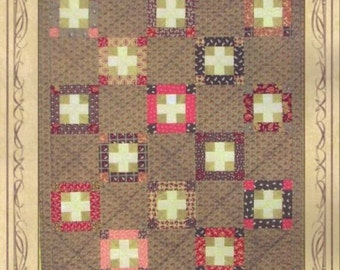The Red Cross Quilt Pattern PDF Reproduction Traditional Style