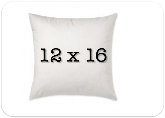 Pillow insert Size: 16 x 16 inches, 40 x 40 cm, square. Square Pillow Form Insert Hypo-allergenic Made in USA (16