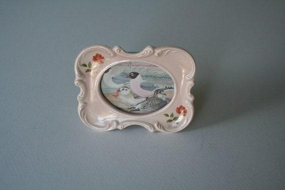 vintage pink ceramic frame