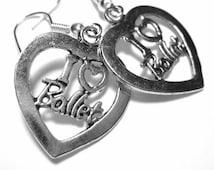 Silver Ballerina Earrings - Ballet Jewelry I Heart Ballet Gift 013