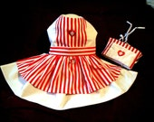 Candy Striper Dress and Hat Costume for Dogs  XXXS,XXS,XS,S,M