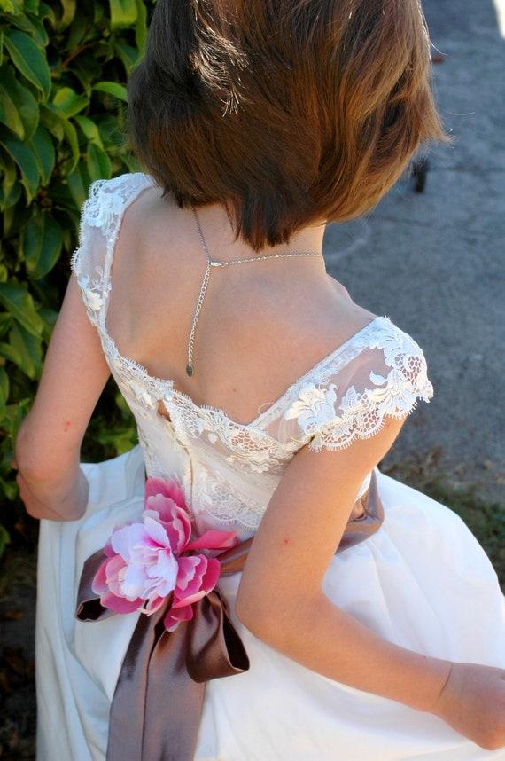 Ivory Flower Girl Dress Shabby Chic Flowers Dress Tulle Dress Wedding Dress Birthday Dress Toddler Tutu Dress 1t 2t 3t 4t 5t Morden Wedding