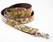 Ochre Floral Organic Dog Leash
