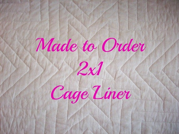 Made to Order Reversable Cage Liner 2x1 for Guinea Pig Hedgehog Small Animals