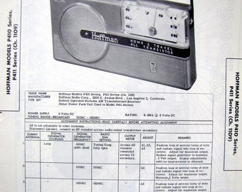 1957 Hoffman Transistor Radio 50s Portable Photo