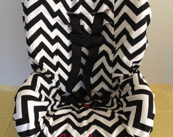 CHEVRON  or you CHOOSE FABRIC to design your toddler Car Seat Cover