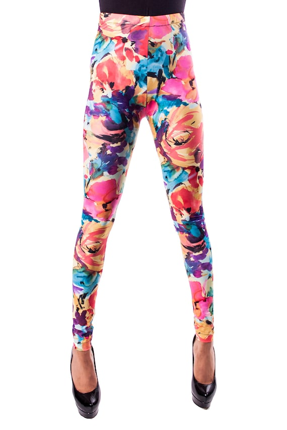 DISCOUNTED Yellow Floral Leggings