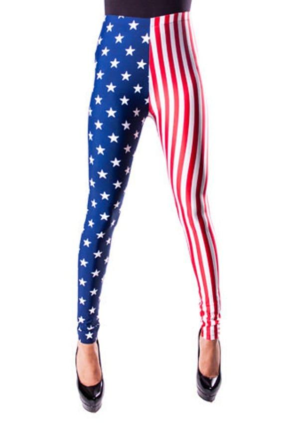 American Flag Leggings Stars and Stripes