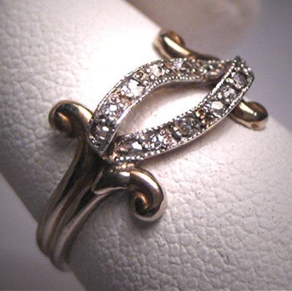 Antique Diamond Wedding Ring Band Platinum Eternity