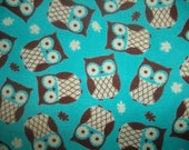 Custom Owl Minky Baby Blanket