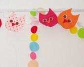 Owl baby shower banner , owl birthday , owls decoration , kids room decoration , owl felt garland