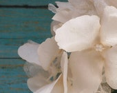 Silk Flowers - One Hydrangea Head in Blush with Iridescent Layers - Artificial Flowers