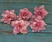 Silk Flowers - 5 PINK Delphinium Blossoms - ALMOST 2.75 Inches - Artificial Flowers