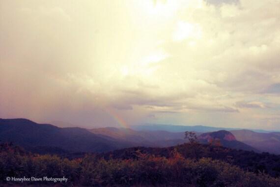 Smoky Mountains Rainbow Looking Glass Rock Fine Art Landscape Photography