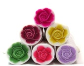 Polymer clay cane - set of 6 Polymer Clay Millefiori ROSE canes