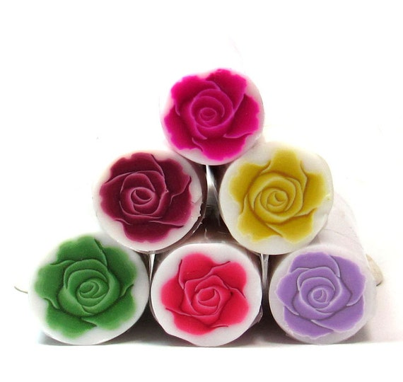 Polymer clay canes, set of 6 Polymer Clay ROSE canes