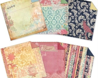 Victoria 6x6 Double Sided Paper Variety Pack by 7 Gypsies 48 sheets