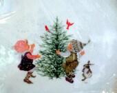 Holly Hobbie boxed porcelain vintage Christmas plate 1973 commemorative edition