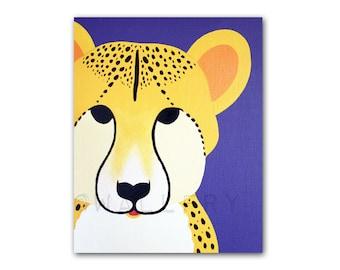 Cheetah Print for baby nursery. Mmodern safari artwork, jungle art, zoo animal for kids rooms and playrooms by WallFry