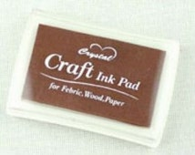 Stamp Ink Pad Oil Based waterproof for wood, fabric and paper - Chocolate Brown