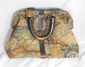 Carpet bag - map