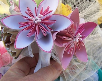 Origami Bouquet Peaches and Cream 8 Flower Bouquet