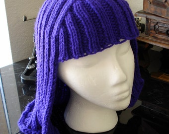 Purple Hat Hair knit wig anime hair