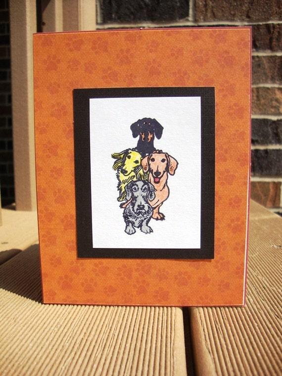 Dachshund Greeting Card - Adult Birthday - Child Birthday - Friendship - Dog Lover - Encouragement - Thank You