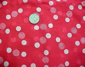 Vintage 30s 40s Retro Art Deco Bubbles Circles Cotton Voile Semi Sheer Apron Fabric 92inL 44inW