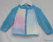 Pastel colour and blue girls round neck cardigan age 2-3 years