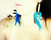 Feather Bullet Earrings