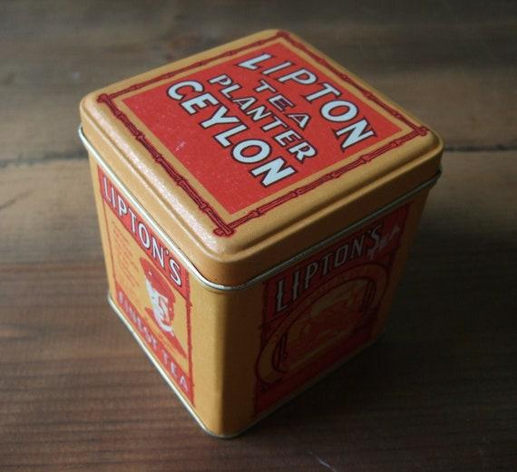 Vintage Lipton Fine Tea Tin by Bristolware