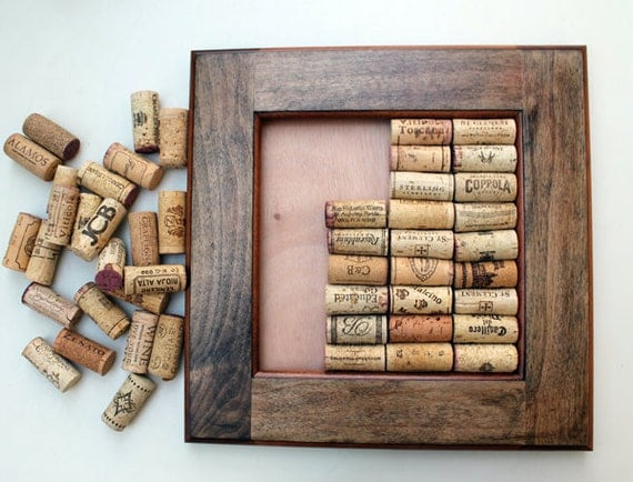 Wine Cork Crafts Diy Bulletin Board Kit Made From