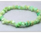 Stretch Bracelet - Gemstone Bracelet - Chrysoprase Bracelet, Chrysoprase Chips, Bead Bracelet, Gemstone Jewelry