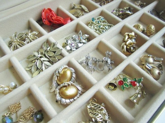 Vintage Costume Jewelry, Lot,  Earrings 24 Pairs, Repurposing Upcycling