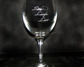 Wine Glass ENGRAVED YOUR WAY - any style glass